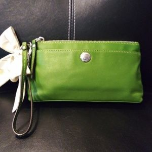 Key Lime Green Coach Wristlet